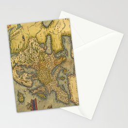 Vintage map of Europe Stationery Cards