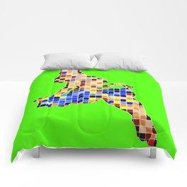 Pixelated Pin Up- Chun-Li Fan Art Comforters