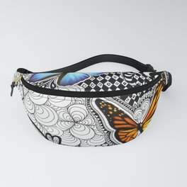 Tangled Butterfly Fanny Pack
