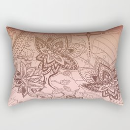Henna Lotus Rectangular Pillow