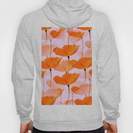 Orange Poppies On A Pink Background #decor #society6 #buyart Hoody