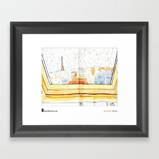 """Nicolas Kern, """"Pluie Velux"""" Framed Art Print"""