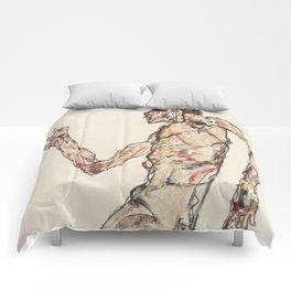 """Egon Schiele """"The Dancer"""" Comforters"""