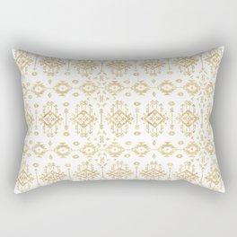 Luxury gold geometric tribal Aztec pattern Rectangular Pillow
