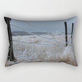 Kansas Icy Fence Rectangular Pillow