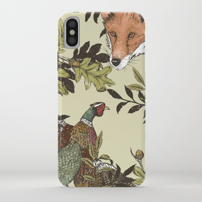 Fox & Pheasant iPhone Case