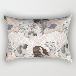 Hygge Girl Pattern Rectangular Pillow