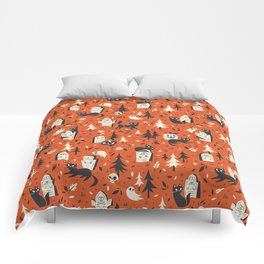 Cemetery Cuties (Orange) Comforters
