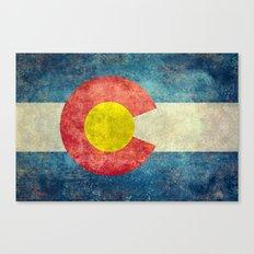Colorado flag in Retro Grunge Canvas Print