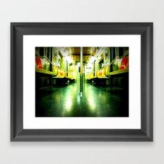 Subway Symmetry Framed Art Print