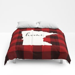 Minnesota is Home - Buffalo Check Plaid Comforters