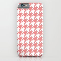 Houndstooth - Coral Slim Case iPhone 6s