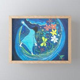 Inside of blue | Yuko Nagamori Framed Mini Art Print