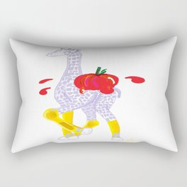 Thanksgiving Food Fight Tomatoe - Midas is Ready - Christmas Lavender Giraffe Rectangular Pillow