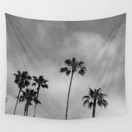 Black and White Palm Tree Wall Tapestry