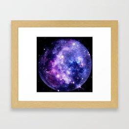 Galaxy Planet Purple Blue Space Framed Art Print