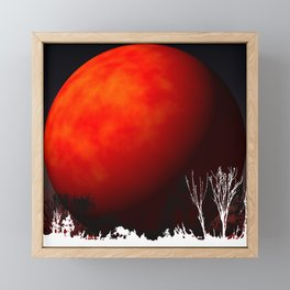Blood Orange Moon Framed Mini Art Print