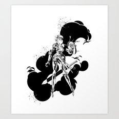 Lady Knight Art Print