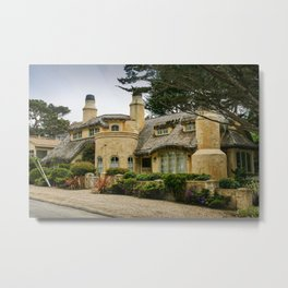 Fairytale Cottage-Style House, Carmel, Monterey County, California Metal Print