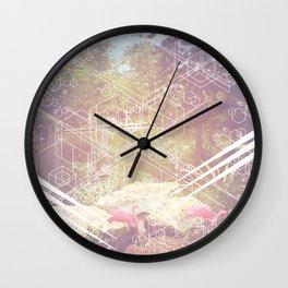 Geometric White Miami Garden Wall Clock
