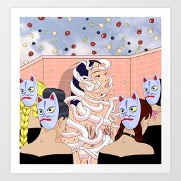 """Resurrection of a jewish girl in Tokyo"" Art Print"