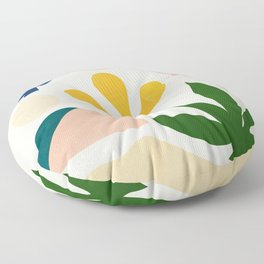 Abstraction_Floral_001 Floor Pillow