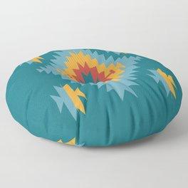 Santa Fe Southwestern Native Navajo Indian Tribal Geometric Pattern Floor Pillow