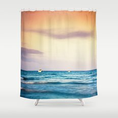 boats on the Mediterranean Shower Curtain