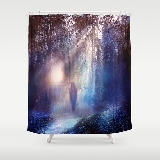 Path lights Shower Curtain