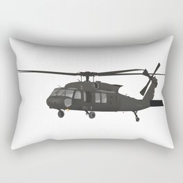 UH-60 Military Helicopter Rectangular Pillow