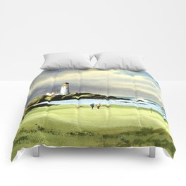Turnberry Golf Course 10th Green Comforters