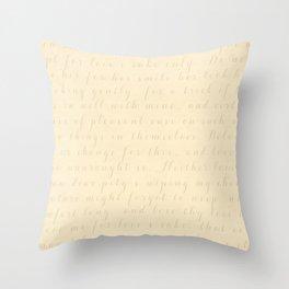 Victorian Love Poem Throw Pillow