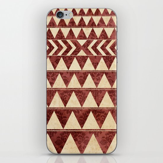 Vintage Material Triangles iPhone & iPod Skin