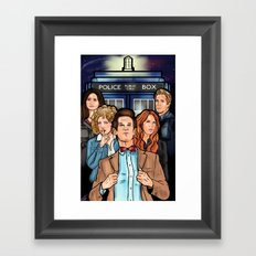My Doctor and His Posse Framed Art Print