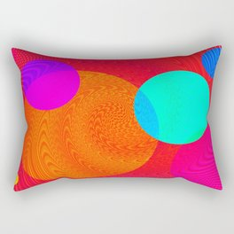 Re-Created Twisters No. 4 by Robert S. Lee Rectangular Pillow