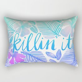 Killin' It – Turquoise + Lavender Ombré Rectangular Pillow