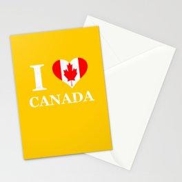 Canada heart grunge Stationery Cards