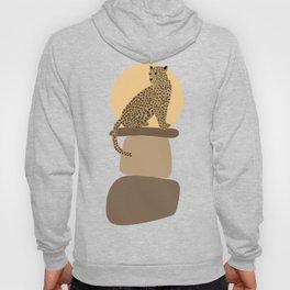 Leopard on the rocks Hoody