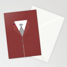 Maroon & White Haiti Stationery Cards