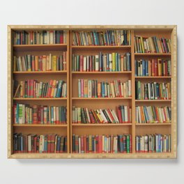 Bookshelf Books Library Bookworm Reading Serving Tray