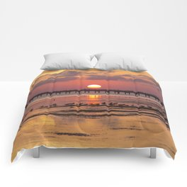 Sunset in Corolla Comforters