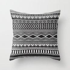 Ethnic Black Throw Pillow