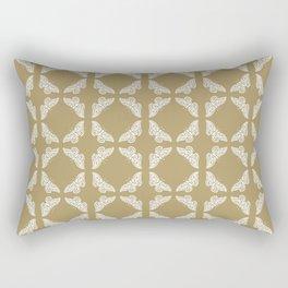 Teak Arts and Crafts Butterflies Rectangular Pillow