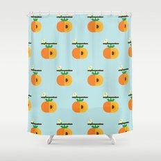 Fruit: Persimmon Shower Curtain
