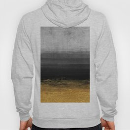 Black and Gold grunge stripes on modern grey concrete abstract background - Stripe -Striped Hoody
