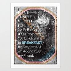 SocialBreakFast 2.0 Art Print