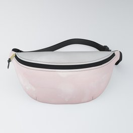 Touching Blush Gray Abstract Painting #1 #ink #decor #art #society6 Fanny Pack