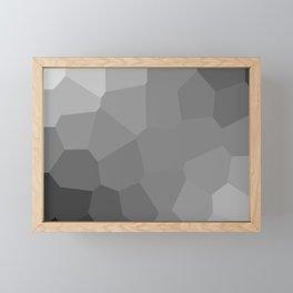 black background Framed Mini Art Print