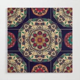 Colorful Mandala Pattern 007 Wood Wall Art