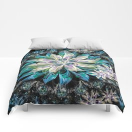 Midnight Flowers Comforters